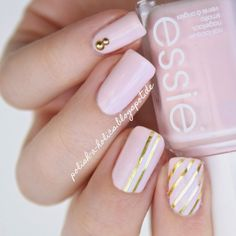 #essie #essiefiji #pink #rose #gold #nails #manicure #nailart