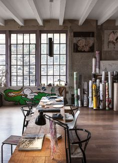 Gravity Home: Industrial Loft Filled With Art