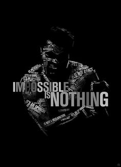 Muhammad Ali 'Impossible is nothing' - Geburtstag Mohamed Ali, Muhammad Ali Boxing, Muhammad Ali Quotes, Motivational Quotes Wallpaper, Wallpaper Quotes, Inspirational Quotes, Boxing Posters, Boxing Quotes, Muhammad Ali Wallpaper