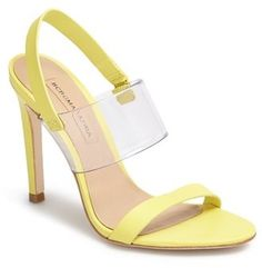 BCBGMAXAZRIA 'Jash' Sandal #yellow #sandals #heels #shoes #bcbg #fashion