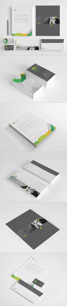 Modern Architecture Stationary by Abra Design, via Behance #design #stationary || Beautifully designed identity along with a well complemented implementation into collaterals #identity ||