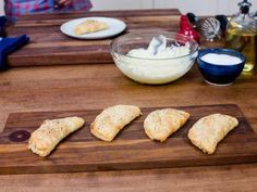 """Ham-Tomato-Cheddar Biscuit Sandwiches (Bobby Loves Biscuits) - Bobby Flay, """"Brunch at Bobby's"""" on the Food Network."""