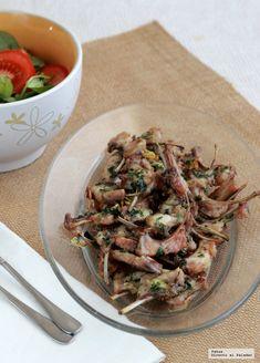 Chuletitas de conejo hechas en el horno. Receta sana de verano
