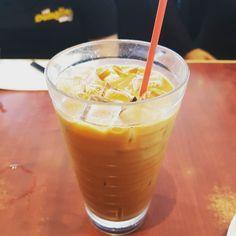 Perfect day for a cup of Hong Kong style iced milk tea. #thedumplinghero #foodtruck #foodtrailer #calgary #alberta #yyc #yycfoodtrucks #milktea #hongkong #hotdays #summer #refreshing by thedumplinghero