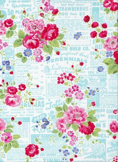 Ruby by Bonnie and Camille for Moda, Sundae in grey, 1 yard Pam Kitty Garden by Pam Kitty for Lakeho Backgrounds Wallpapers, Flower Backgrounds, Pam Pam, Decoupage Printables, Floral Artwork, Pattern Paper, Paper Patterns, Floral Patterns, Pattern Art