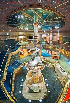 http://wanelo.com/p/3625367/cruise-secrets-cruise-savings - Ryndam's Atrium Art. cruise ship