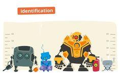 Robot identification illustration by Kit8.net on @creativemarket