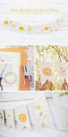 Simple Fall Pumpkin Banner