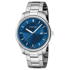 Wenger 01.1441.117 Men's City Classic Blue Dial Stainless Steel Bracelet Watch