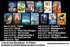I Heart Salt Lake: Kids Summer Dollar Movies at Water Gardens Theaters