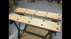 New wood top/vise for my Workmate type thing - 3 Workshop Bench, Workshop Storage, Workshop Organization, Shed Storage, Garage Workshop, Portable Workstation, Portable Workbench, Woodworking Shop Layout, Woodworking Bench