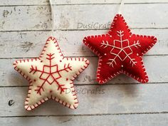 Please NOTE !!! Current processing time is about 5 days. Your order will ship within 7 days after placing an order. If you need this before Christmas please select Fedex upgrade Shipping. ------------------------------------------ Felt christmas ornaments - set of 2 star ornaments white