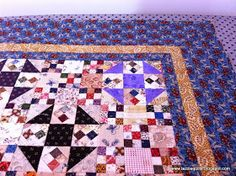 And I'm done! Just a little bit exhausted, but very much relieved to have this quilt top done before my self imposed deadline :-) Today I...