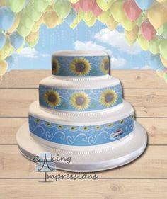 Frozen Fever Edible Image Cake Topper Sunflowers [WRAPS]