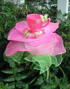 A cup of pretty.....TeaCup headband