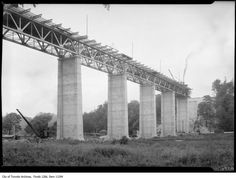 The Leaside Viaduct doesn't get nearly the attention it deserves. Needlessly dwarfed in terms of fame and stature by its slightly older cousin to t. Toronto Ontario Canada, Toronto City, Waterloo Ontario, Across The Bridge, Guernica, Physical Geography, The Far Side, Twin Cities, Environmental Science