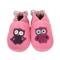 Robeez - Robeez Owlivia Soft Soles, Pink, $26.00 (http://www.myrobeez.com/robeez-owlivia-soft-soles-pink/)