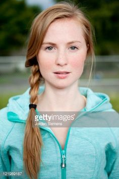 Stock Photo : Portrait of young girl.