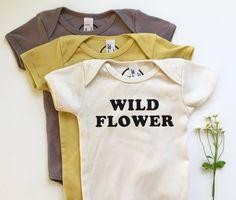 WILD FLOWER - Organic Baby Onesie - Spring baby - Wildflower - Hippie - Boho Baby