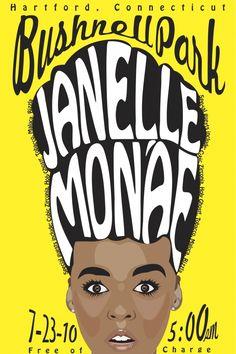 Janelle Monáe gig poster