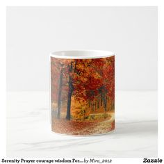 Serenity Prayer (Left Side) Forest Path in Fall Coffee Mug - autumn gifts templates diy customize Forest Falls, Forest Path, Autumn Forest, Fall Images, Nature Images, Fall Photos, Personalized Chocolate, Autumn Coffee, Get Well Gifts