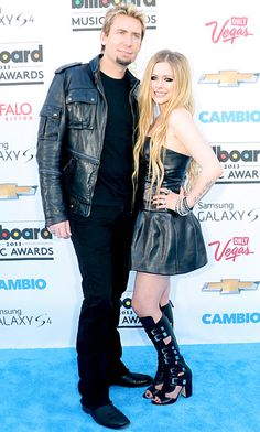 Billboard Music Awards 2013: What the Stars Wore!: Chad Kroeger and Avril Lavigne