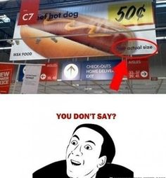 I'm more interested in what is wrong with the hotdog if they are selling it for 50¢