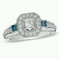 The engagement ring i want but i want the December and September birth stones in it