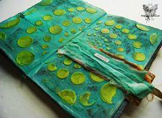 For Pan Pastel BNL: PanPastel en Gelato art journaling spread ~ france papillon