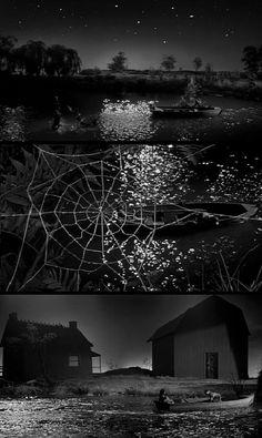 """Night of the Hunter"" 's (1955, dir. Charles Laughton) river scene"