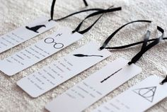 Set of 5 Harry Potter bookmarks, unique bookmark, inspirational bookmark, paper bookmark, Harry Potter quotes