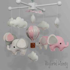 Ähnliche Artikel wie Elefant Mobile - Hot Air Balloon Mobile - Custom Mobile (nicht fertig gemacht) - versandfertig in 4-6 Wochen auf Etsy