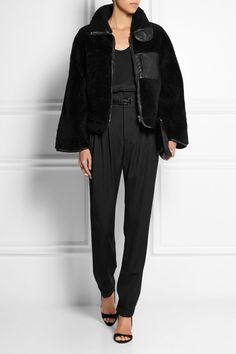 Altuzarra | Manray leather-trimmed shearling jacket