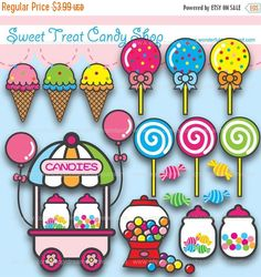 50% de descuento para imprimir clip Arte Digital PDF PNG Archivo - Sweet Shop caramelo stand