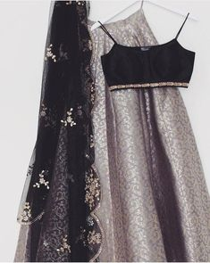 Gray Brocade Lehenga Blouse Indian Dresses Shop Online - April 20 2019 at Lehnga Dress, Lehenga Blouse, Lehenga Choli, Sabyasachi, Indian Attire, Indian Wear, Indian Outfits, Indian Clothes, Brocade Lehenga