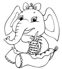Click To See Printable Version Of Elephant Girl Coloring Page