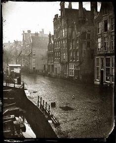 Jacob Olie - Oudeschans Amsterdam februari 1863