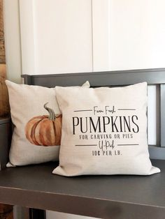 Farm Fresh Pumpkins Fall Pillow Cover – Fall Decor – Fall Pillow Cover -Halloween Decor – Autumn Dec - Home Design Ideas Pumpkin Pillows, Fall Pillows, Fall Outdoor Pillows, Throw Pillows, Fall Home Decor, Autumn Home, Fall Entryway Decor, Holiday Decor, Home Design