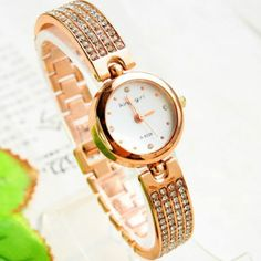 Relógio redondo de cristal | Relógios | | TriClick por R$44,90