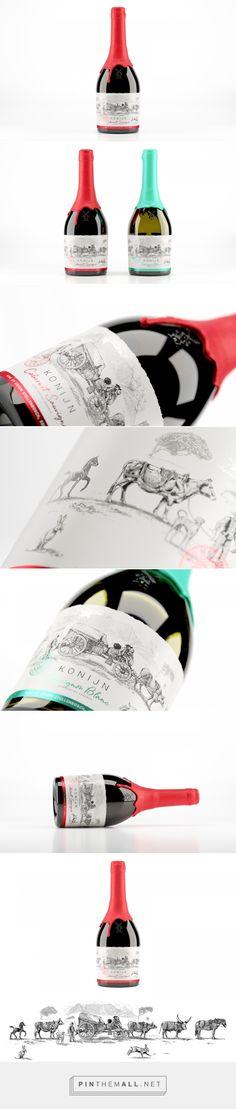 Konijn wine packaging design by The Motel - https://www.packagingoftheworld.com/2018/04/konijn.html