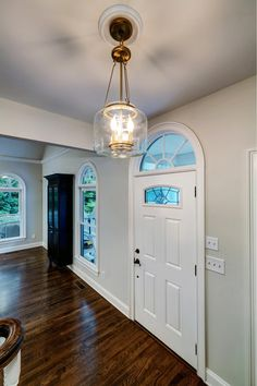 This house has all the touches. A brick backsplash. Carrera Quartz Counters, and so much more. Craftsman Farmhouse, Shaker Style Cabinets, Window Benches, Basement Renovations, Custom Cabinetry, Quartz Countertops, Living Room Kitchen, Brass Hardware, Carrera