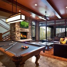Man cave basement man cave basement designs man cave finished basement designs totally envy home best Small Pool Table, Pool Table Room, Billiard Pool Table, Billiard Room, Lofts, Finished Basement Designs, Hotel Paris, Rustic Basement, Design Living Room