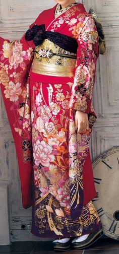 RP: World of Beautiful Kimono - Furukode, Kimono for Coming-of-age Ceremony