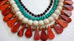 Indian Beaded Statement Necklace  Ethnic Indian by uDazzle on Etsy