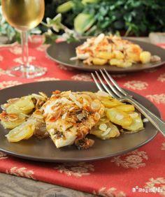 Dorada con almendras y patatas   L'Exquisit