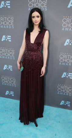 Krysten Ritter wearing Marsala brown at the 2016 Critics' Choice Awards: Red Carpet Photos - IMDb