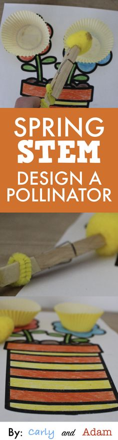 Students design a hand pollinator that will transfer pollen from one flower to another! This activity would be great for Earth Day or as a culminating project to a pollination unit.