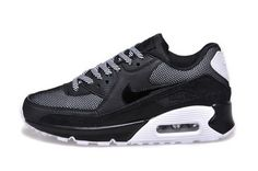 release info on 04e97 f9ab8 Nike Air Max 90 Womenss Shoes Hot New All Black White Gray Online Nike Sb  Shoes