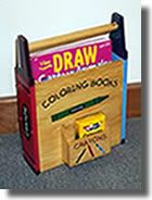 Crayon Coloring Book Holder