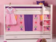 Beautiful pink bunk bed